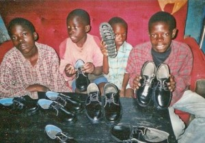 Cecilian Orphans Home - boys with shoes (2)